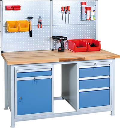 Professional welded workbench example